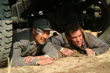 Chow Yun-Fat (left) as Jack Chen and Jonathan Rhys Meyers (right) as George Hogg in The Children of Huang Shi