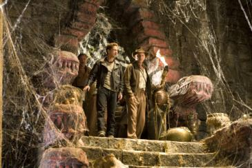 Shia LaBeouf (left) and Harrison Ford in Indiana Jones and the Kingdom of the Crystal Skull