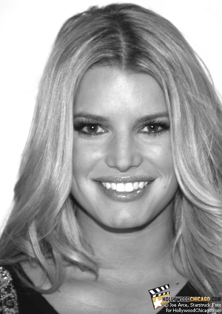 Singer, actress and fashion icon Jessica Simpson sports a fancy greeting for the HollywoodChicago.com lens on Dec. 6, 2008 at the launch of her new Fancy fragrance at Macy's on State Street in downtown Chicago