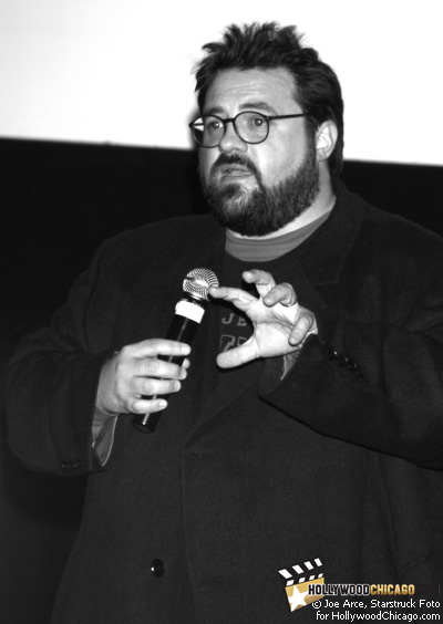 Zack and Miri Make a Porno director Kevin Smith at an audience Q&A on Oct. 21, 2008 as part of the 2008 Chicago International Film Festival
