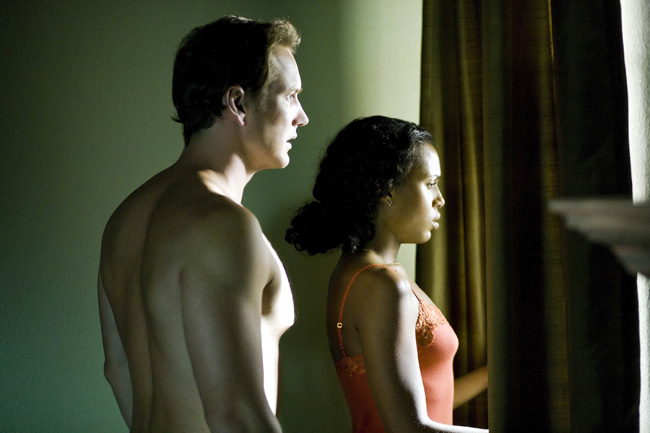 Patrick Wilson (left) as Chris Mattson and Kerry Washington as Lisa Mattson in Lakeview Terrace