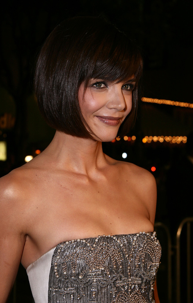 Katie Holmes at the Mad Money red-carpet premiere in Los Angeles on Jan. 9, 2008