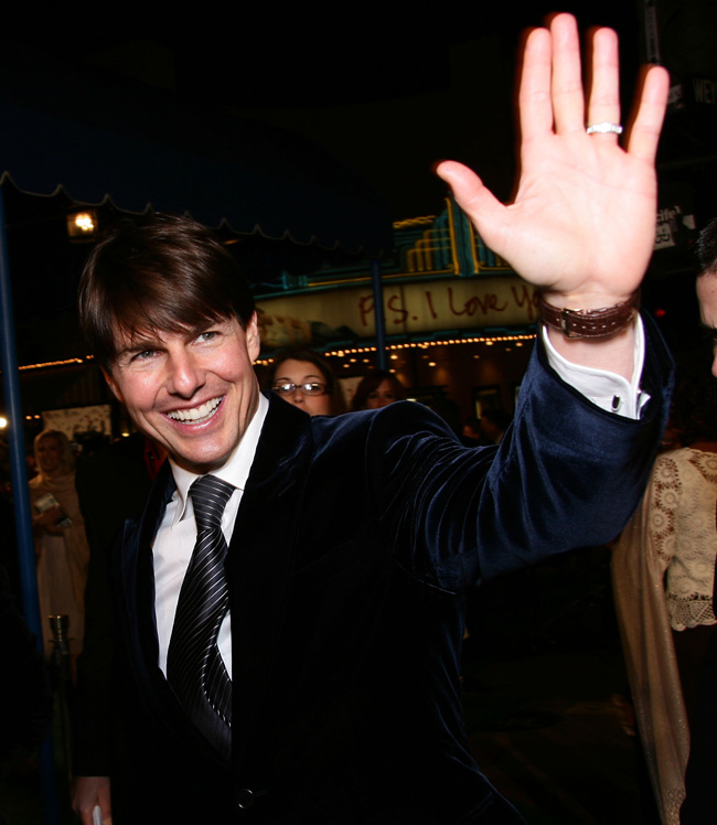 Tom Cruise at the Mad Money red-carpet premiere in Los Angeles on Jan. 9, 2008