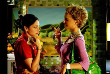 Norah Jones (left) and Natalie Portman in Wong Kar-Wai's My Blueberry Nights