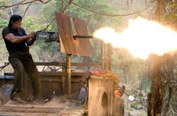 Sylvester Stallone in Rambo in 2008