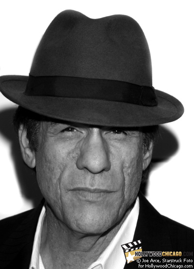 Robert Davi greets the HollywoodChicago.com camera at the premiere of his film The Dukes on Oct. 22, 2008 as part of the 2008 Chicago International Film Festival
