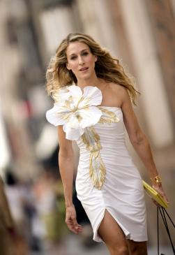 Sarah Jessica Parker stars as Carrie Bradshaw in New Line Cinema's Sex and the City: The Movie