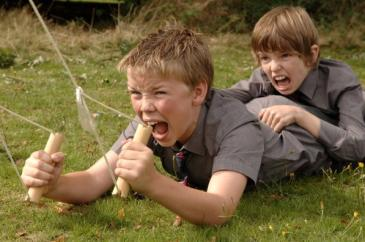Will Poulter (left) and Bill Milner in Son of Rambow