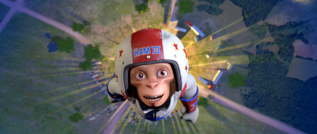 Ham III (Andy Samberg) – the slacker grandson of the first chimp blasted into space before manned spaceflight – takes off into out-of-this-world adventure and comedy in Space Chimps