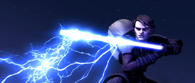 Heroic Anakin Skywalker (Matt Lanter) confronts a foe from the past in Star Wars: The Clone Wars