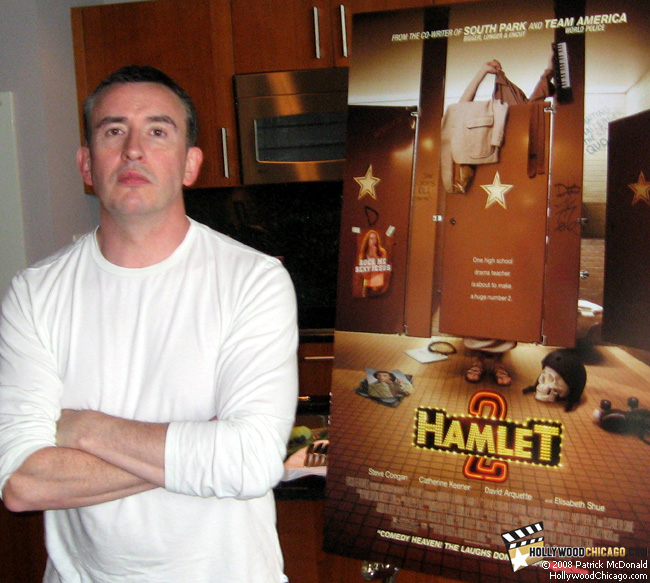 Hamlet 2 star Steve Coogan in Chicago on July 30, 2008