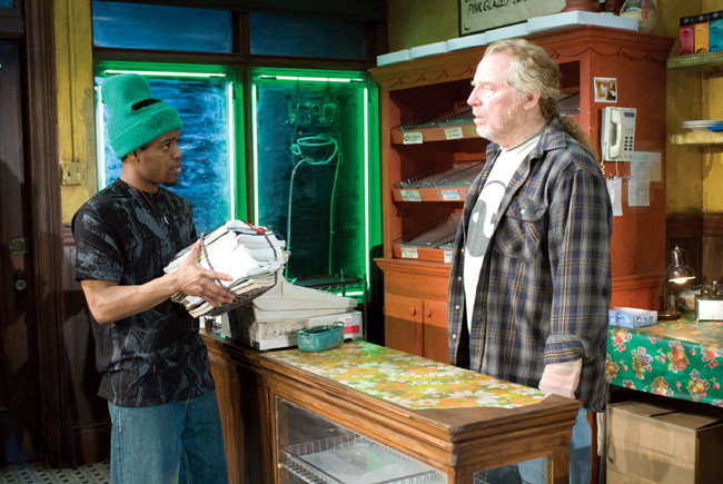 Ensemble member Jon Michael Hill (left) and Michael McKean in Superior Donuts, which is written by ensemble member Tracy Letts and directed by ensemble member Tina Landau