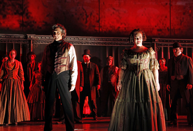 Gregg Edelman and Liz McCartney in Drury Lane Theatre's Sweeney Todd