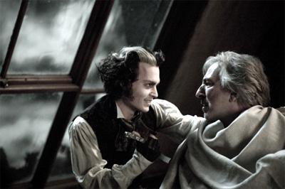 Johnny Depp and Alan Rickman in Sweeny Todd: The Demon Barber of Fleet Street