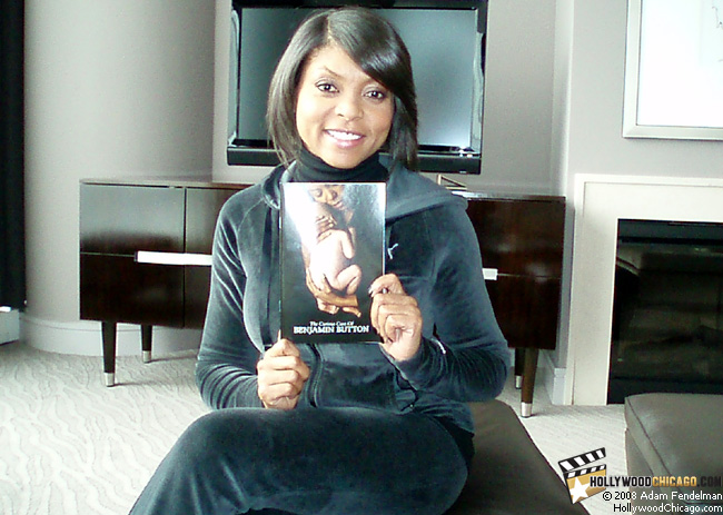 The Curious Case of Benjamin Button star Taraji P. Henson in Chicago on Dec. 5, 2008