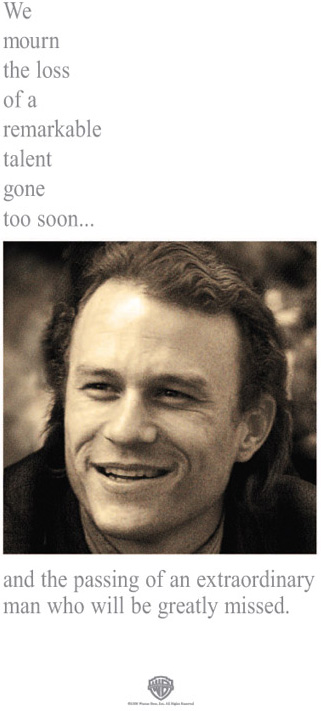 Heath Ledger tribute