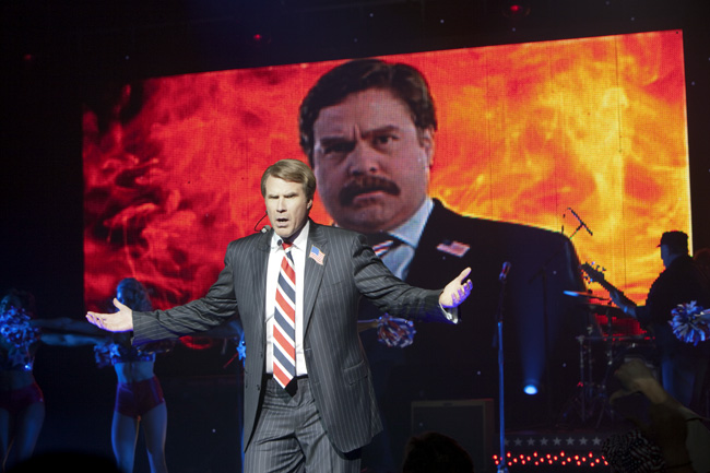 Will Farrell as Cam Brady and Zach Galifianakis as Marty Huggins in The Campaign