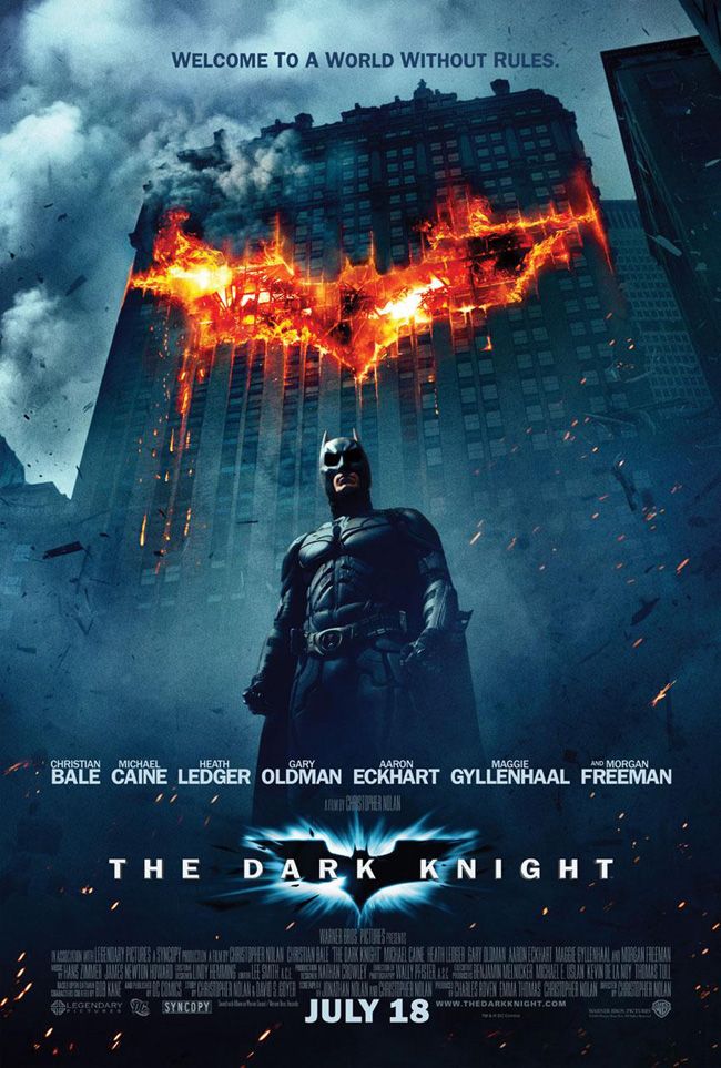 This new poster for The Dark Knight was revealed on April 24, 2008 from a WhySoSerious.com viral marketing campaign