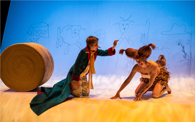 Amelia Hefferon and Kasey Foster in the Lookingglass Theatre's The Little Prince