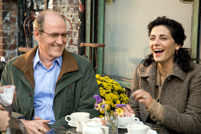 Richard Jenkins (left) and Hiam Abbass in The Visitor