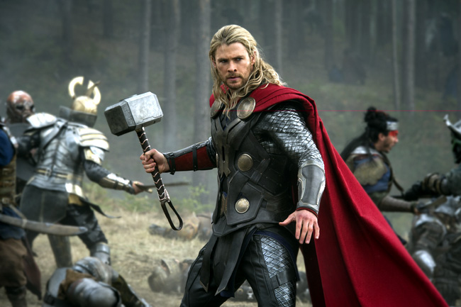 Chris Hemsworth as Thor in Thor: The Dark World