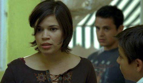 America Ferrera (left), Jesse Garcia (middle) and Adrian Alonso in Under the Same Moon