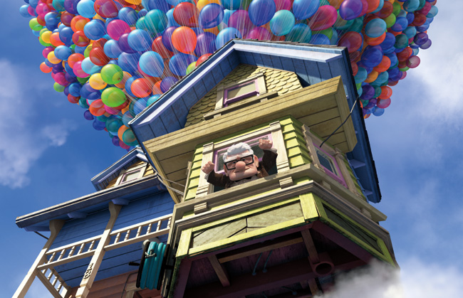 Carl Fredricksen in Up is voiced by Edward Asner
