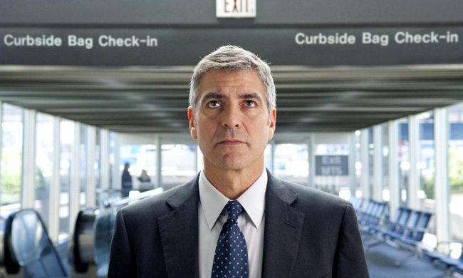 George Clooney stars as Ryan Bingham in the dramatic comedy Up in the Air