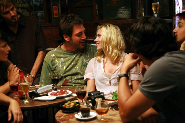Javier Bardem (left center) and Scarlett Johansson (right center) star in Vicky Cristina Barcelona from director Woody Allen
