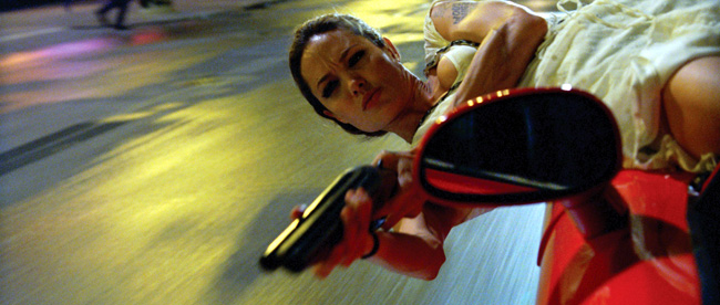 Angelina Jolie in Wanted with James McAvoy, Morgan Freeman, Terence Stamp, Common and David O'Hara