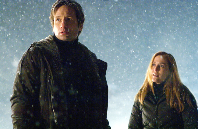 Fox Mulder (David Duchovny) and Dana Scully (Gillian Anderson) are drawn back into the world of the X-Files in The X-Files: I Want to Believe