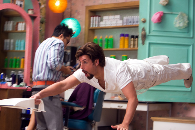 In You Don't Mess with the Zohan, Adam Sandler stars as Zohan: an Israeli commando who fakes his own death in order to pursue his dream of becoming a hairstylist in New York