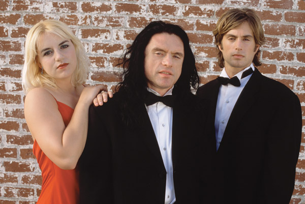 Juliette Danielle, Tommy Wiseau and Greg Sestero star in The Room.