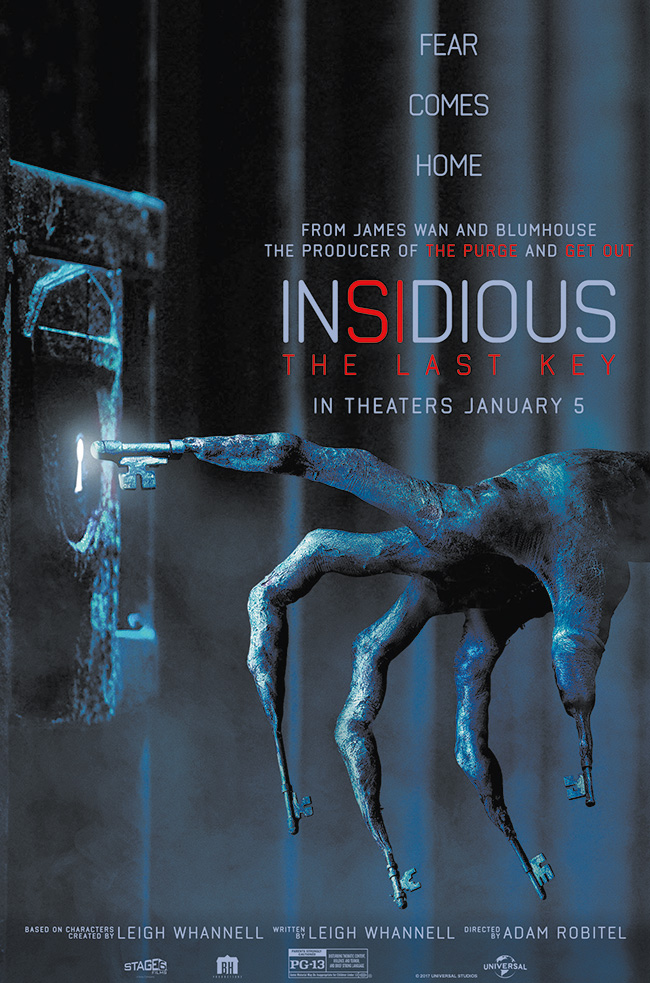 The movie poster for Insidious: The Last Key from the creative minds behind the hit Insidious trilogy