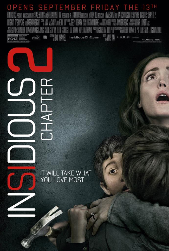 The movie poster for Insidious: Chapter 2 starring Rose Byrne and Patrick Wilson