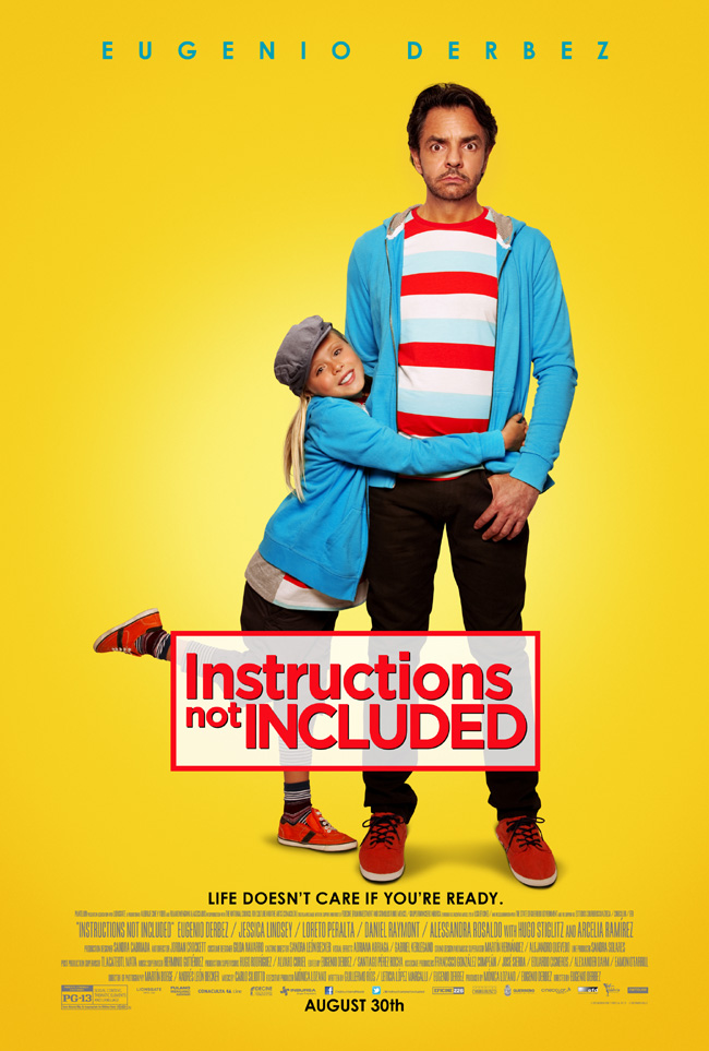 The movie poster for Instructions Not Included starring Eugenio Derbez