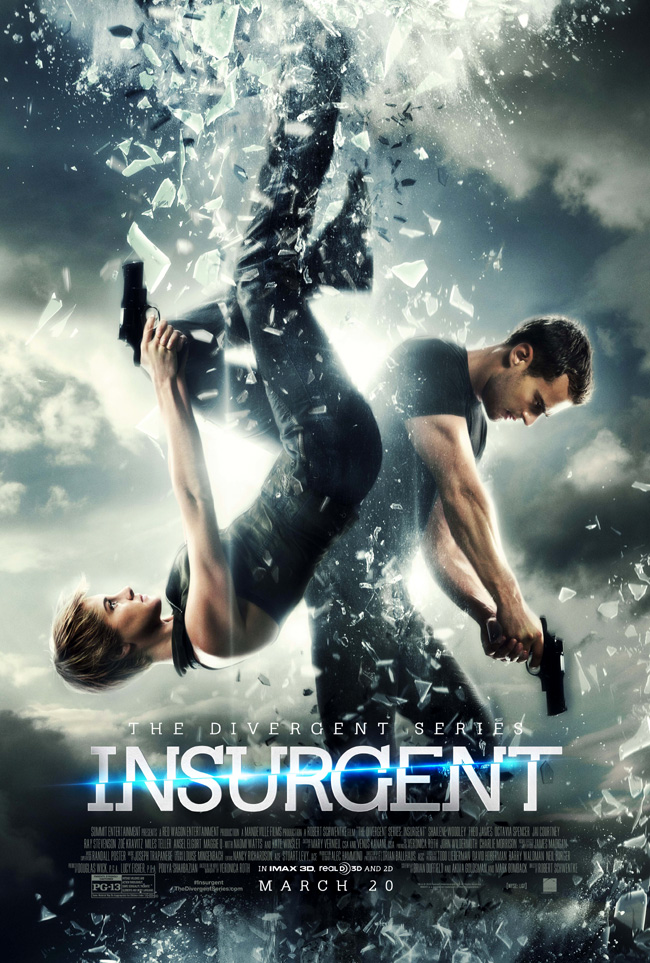 The movie poster for The Divergent Series: Insurgent starring Shailene Woodley