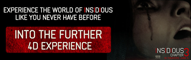 Insidious: Into the Further 4D Experience at C2E2 in Chicago from April 24 to 26, 2015