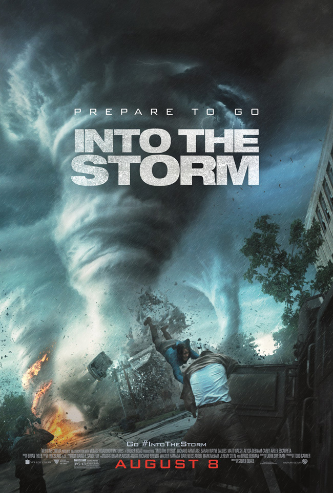 The movie poster for Into the Storm starring Richard Armitage