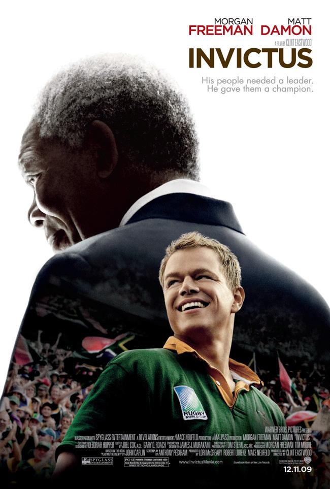 Invictus from director Clint Eastwood stars Matt Damon and Morgan Freeman