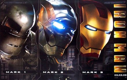Iron Man evolution movie poster