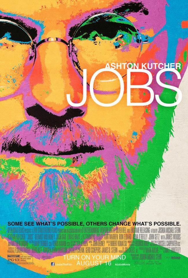 The movie poster for Jobs starring Ashton Kutcher