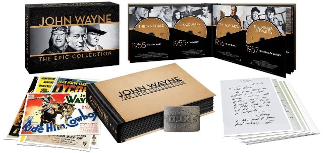 The John Wayne Epic Collection was released on DVD on May 27, 2014