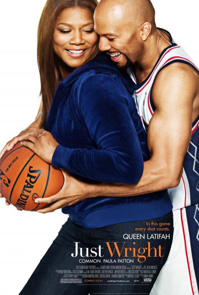 The movie poster for Just Wright with Queen Latifah and Common