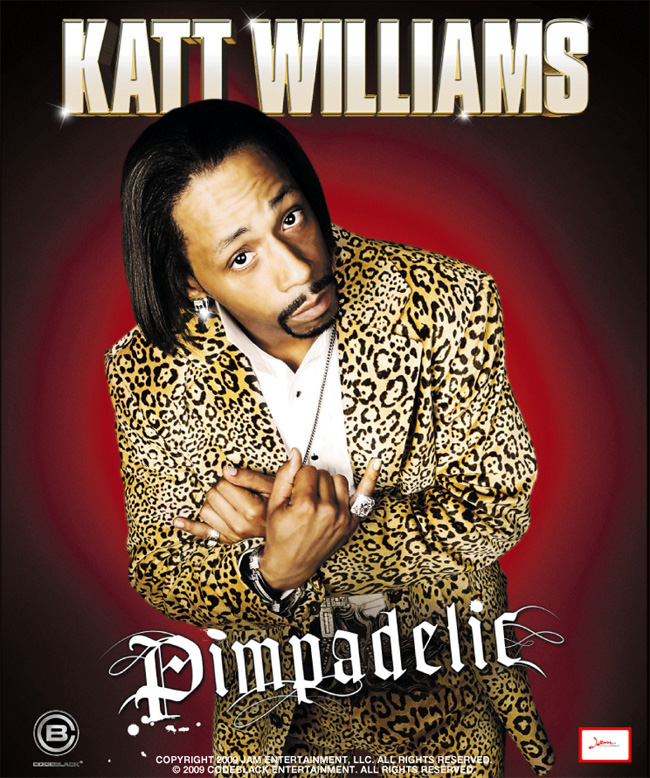The DVD cover for Katt Williams: Pimpadelic featuring comic sensation Katt Williams