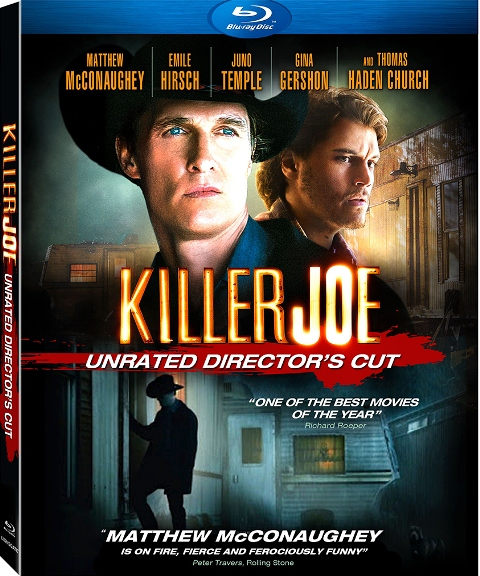 Killer Joe was released on Blu-ray and DVD on December 21, 2012