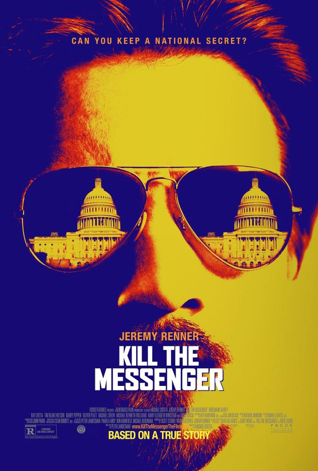 The movie poster for Kill the Messenger starring Jeremy Renner