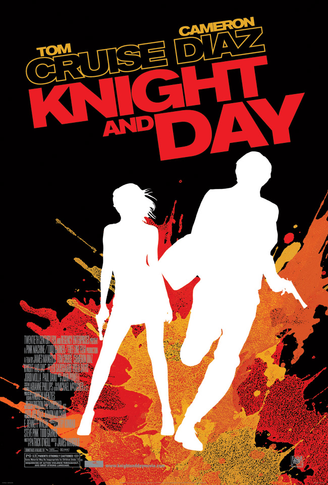 The movie poster for Knight and Day with Tom Cruise and Cameron Diaz