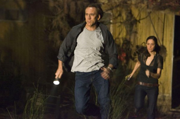 Nicolas Cage (left) and Rose Byrne in Knowing