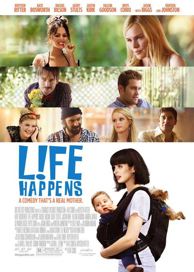 The movie poster for L!fe Happens with Kate Bosworth, Jason Biggs and Krysten Ritter